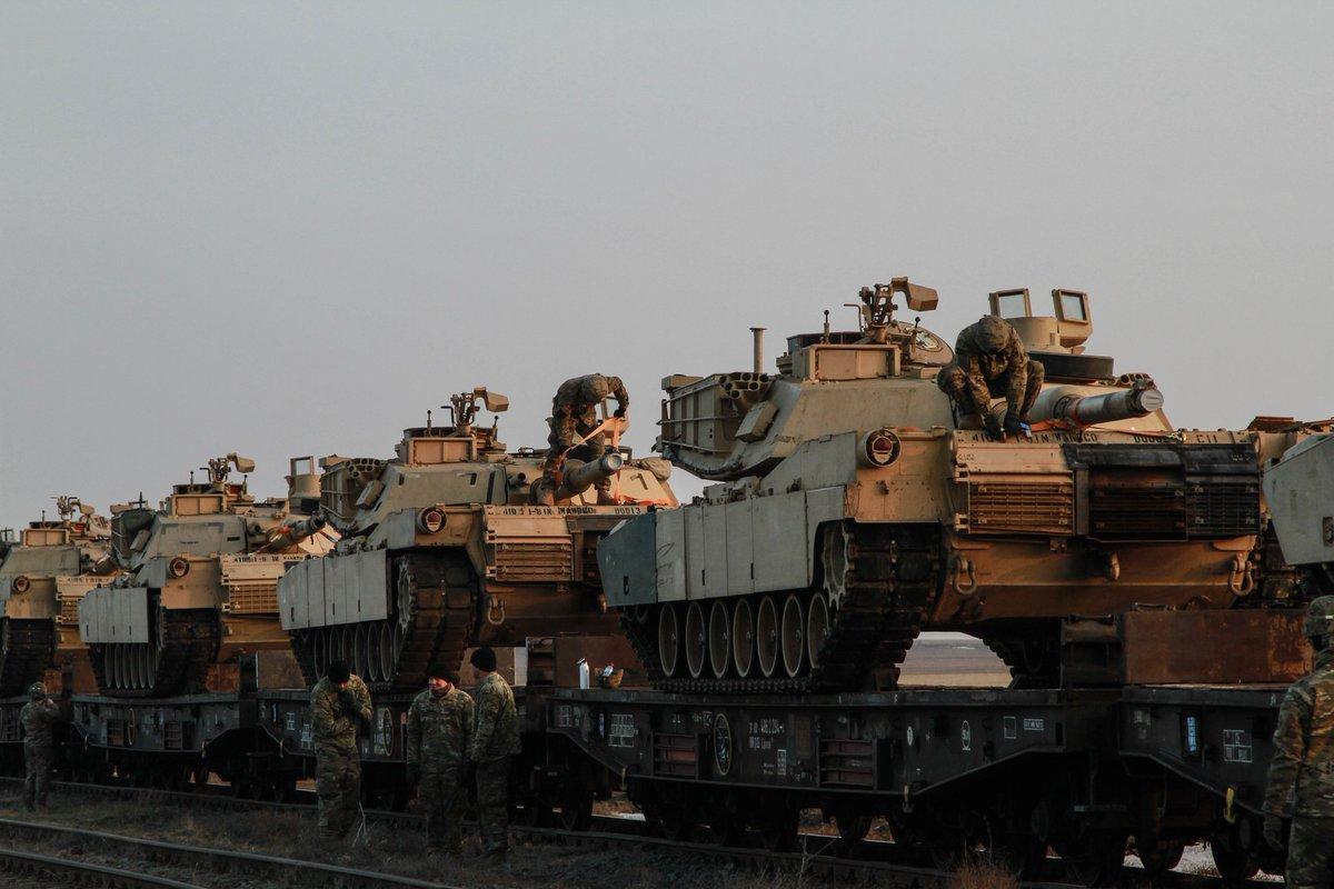 US M1 Abrams Main Battle Tanks Arrived in Romania