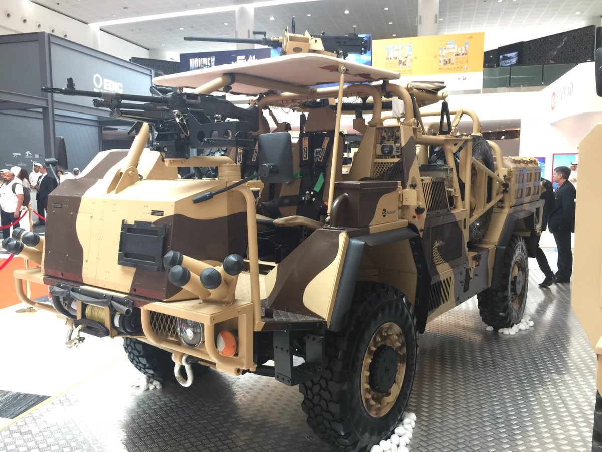 Supacat Unveils HMT 400 Desert Special Operations Vehicle at IDEX 2017
