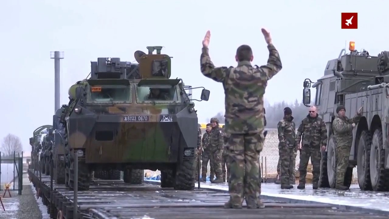 Heavy equipment for French troops arrive in Estonia for major NATO deployment