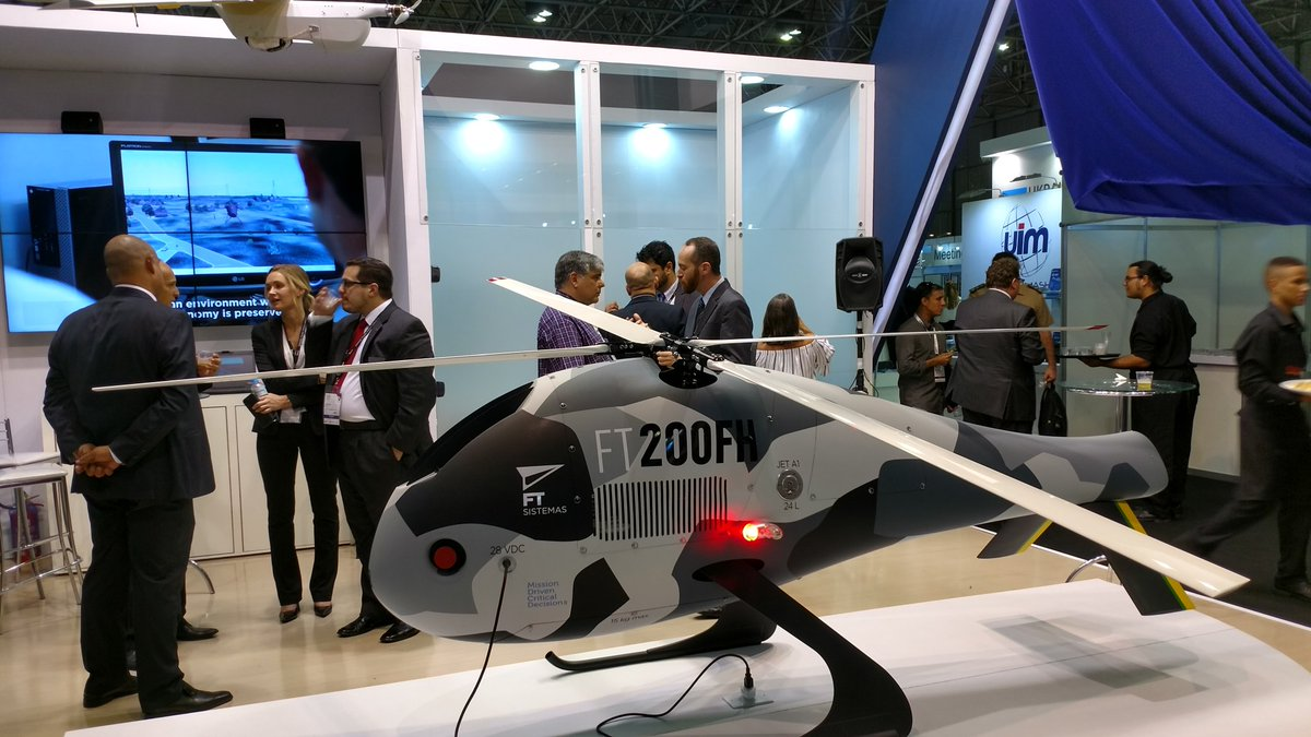 Brazilian company unveils FT-200 FH remotely piloted helicopter at LAAD 2017