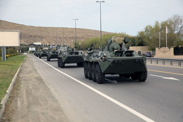 Russia delivered a new batch of weapons and military equipment to Azerbaijan