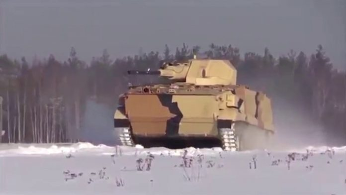 「Russia unveils new Vikhr unmanned ground vehicle with 57mm automatic gun」的圖片搜尋結果