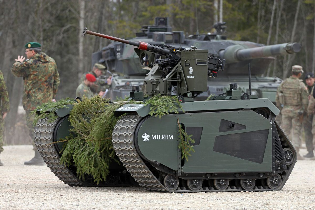 Estonia unveils unmanned ground vehicle with 12.7mm RWS during military exercise