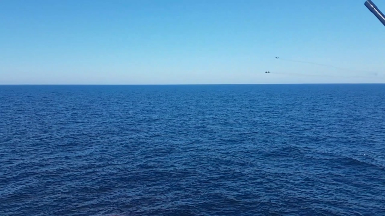 Russian Su-24M attack jets made extremely close passes over Dutch frigate