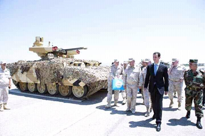 """Russian defence company unveiled """"Terminator 2"""" armoured fighting vehicle for Syrian President"""