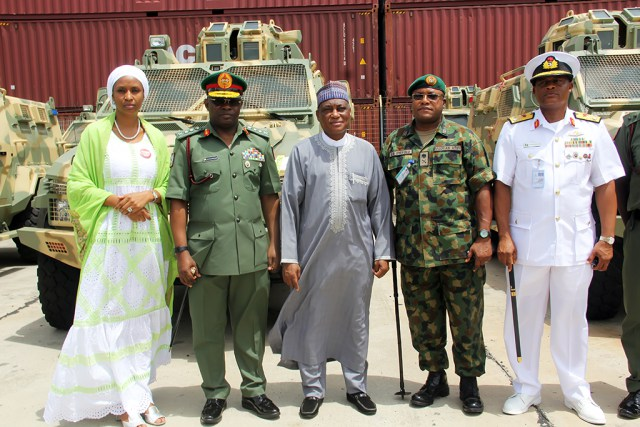 Nigerian armed forces receives new armored personnel carriers
