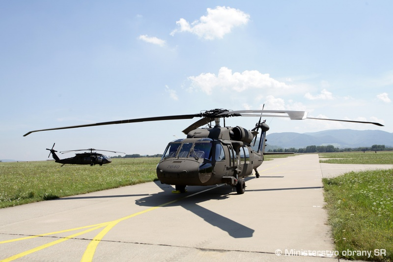 Slovak Air Force receives first two UH-60M Black Hawk helicopters