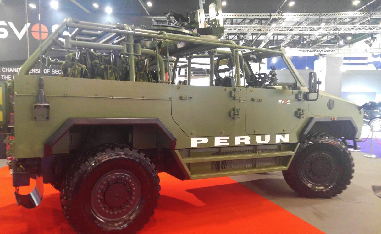 Czech company unveils new PERUN special operations vehicle at DSEI 2017