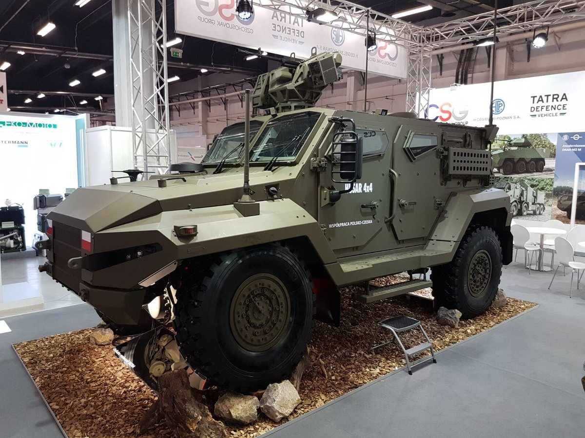 HCP company unveils new HUSAR multipurpose tactical armoured vehicle at MSPO