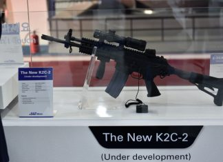 K2C-2 rifle at the ADEX 2017. Photo by milidom.net
