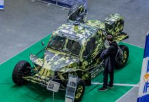 LTA ultra-lighttactical vehicle at theArms and Security 2017 defence exhibition in Kyiv. Photo by Dylan Malyasov