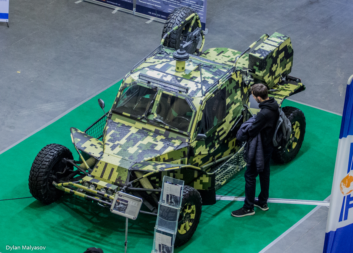 LTA ultra-light tactical vehicle at the Arms and Security 2017 defence exhibition in Kyiv. Photo by Dylan Malyasov