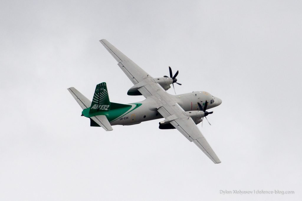 Antonov An-132D aircraft. Photo by Dylan Malyasov
