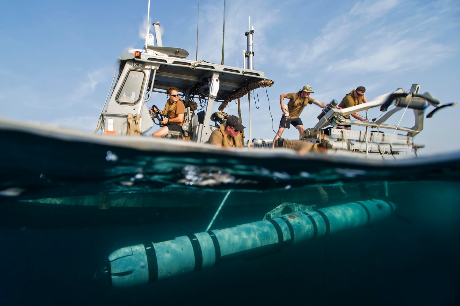 United States Navy formed the first squadron of submarine robots