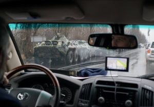 OSCE observed the military convoy moving in the direction of Luhansk city in Ukraine