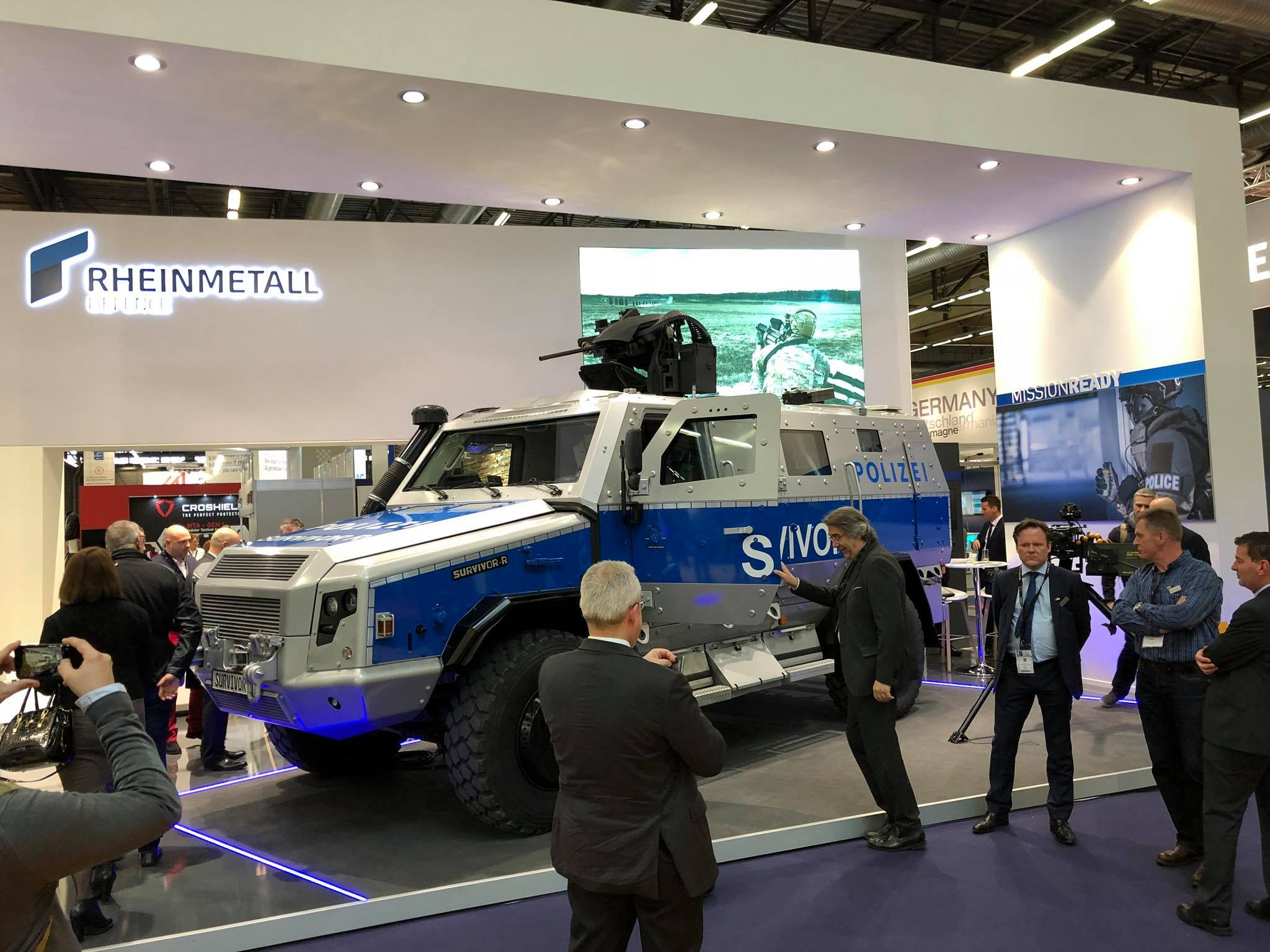 Rheinmetall unveils RMMV Survivor R special operations vehicle at Milipol 2017