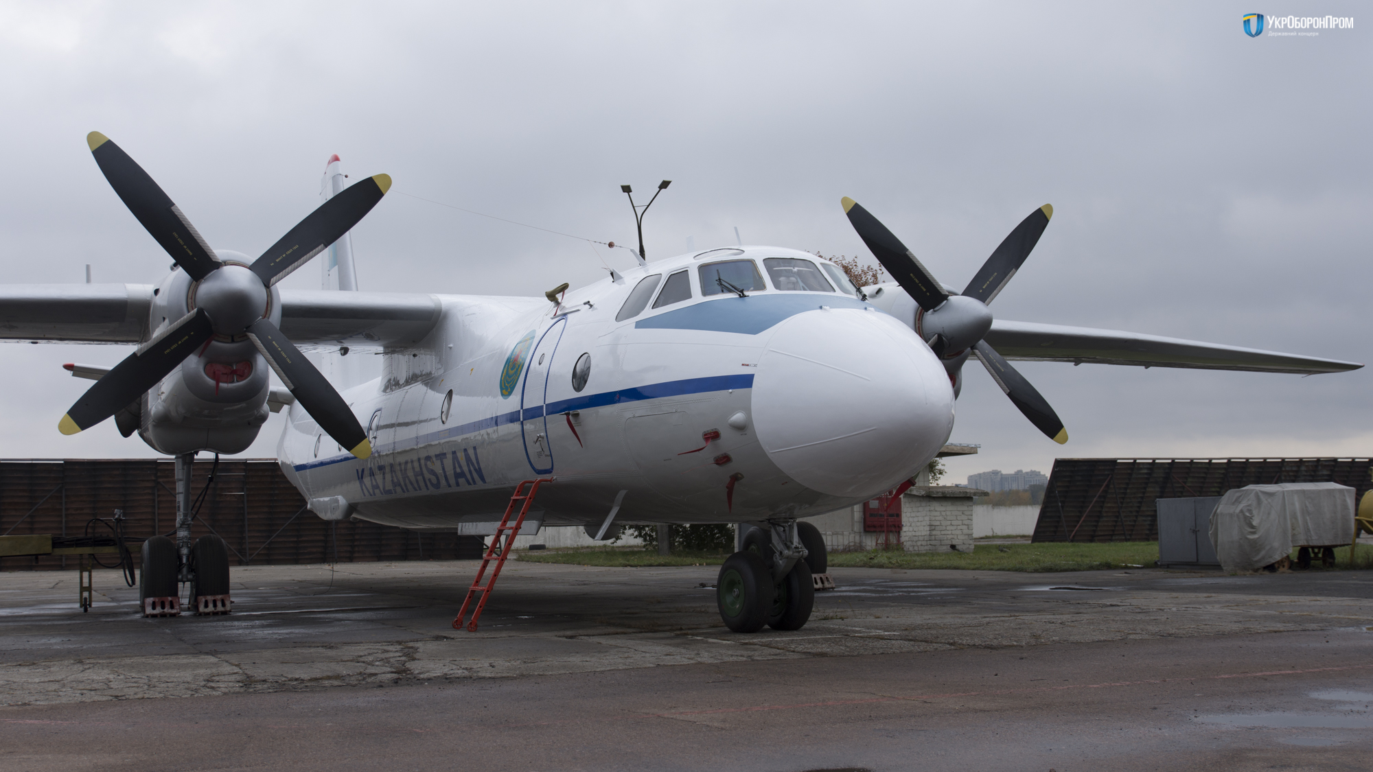 Ukraine hands over refurbished AN-26 to the National Guard of the Republic of Kazakhstan