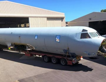 Video: AP-3C Orion arrived at the South Australian Aviation Museum