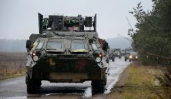 Photos: Ukrainian BTR-4 armoured personnel carriers during military exercise