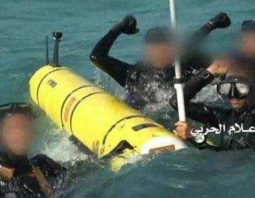 Houthi Navy seized autonomous spy underwater vehicle