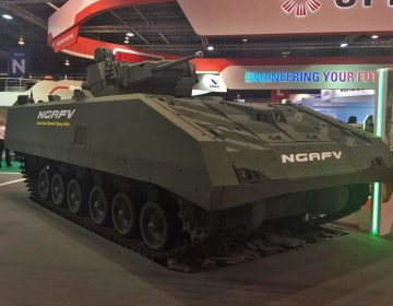 ST Engineering showcases next-generation armoured fighting vehicle at Singapore Airshow 2018