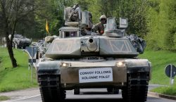 Germans show support during largest tactical convoy on German roads