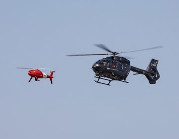 Airbus Helicopters and Schiebel tested MUM-T capabilities between H145 and S-100 UAS