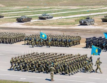Kazakhstan marks Defenders' Day with massive military parade