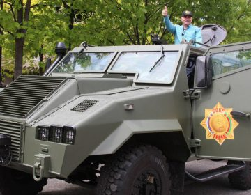 Russia parades Stallion II light armoured vehicle received from Jordan