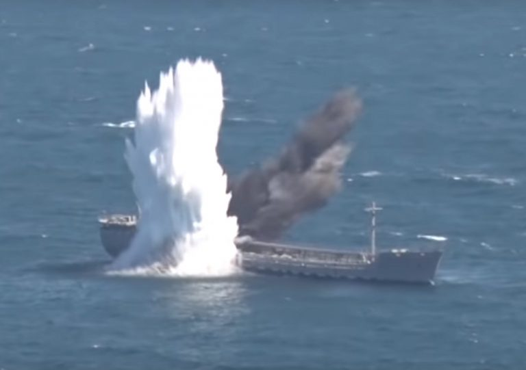 Turkish Navy sinks tanker during a torpedo-firing exercise