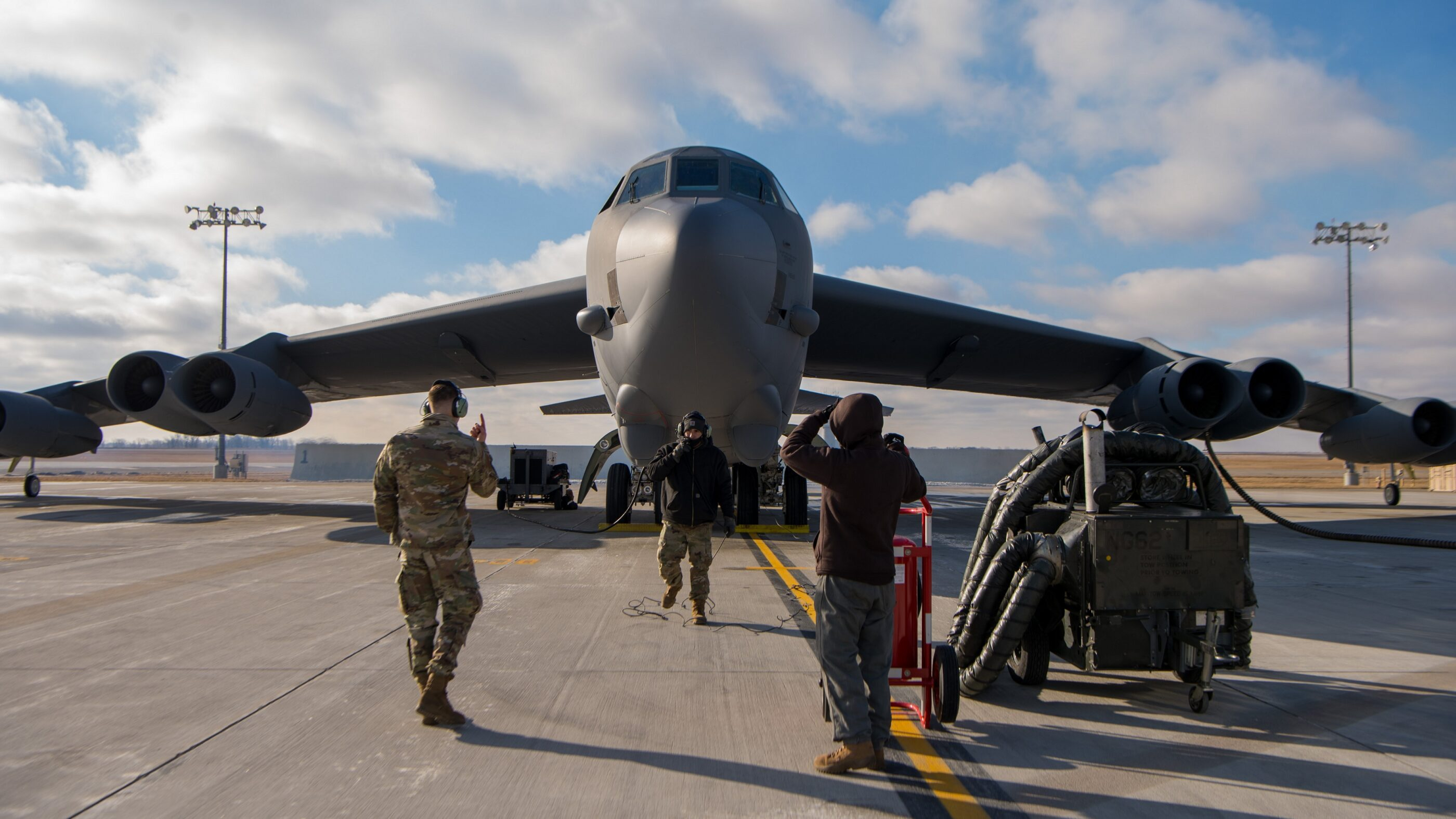 U.S. Air Force B-52H bombers conduct short-notice mission into Middle East