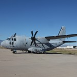 The first of the Air Force's divested C-27J transports slated for transfer to the Coast Guard, shown here, departed the Air Force's aircraft boneyard in Arizona for Elizabeth City, N.C., on Nov. 13, 2014. Photo courtesy of the 309th AMARG