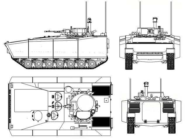 Kurganets-25_armoured_infantry_fighting_vehicle_Russia_Russian_defense_industry_line_drawing_blueprint_001