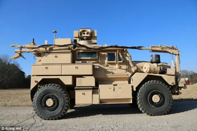 Usa Military Show Laser System For Mine Clearance