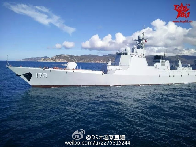 New photos of Type 052D destroyer 173 Changsha 1