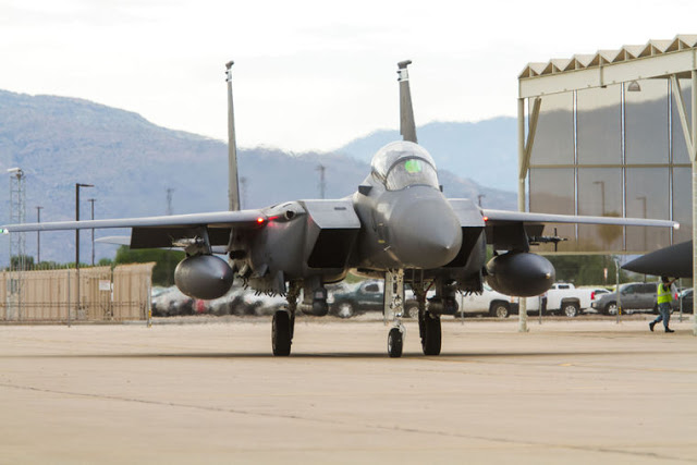 Republic of Singapore F-15SG Strike Eagles training in Tucson's skies 9