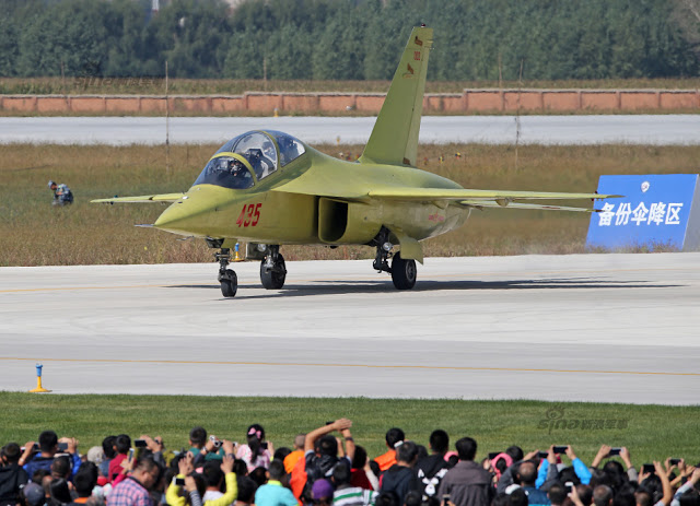 New trainer unveiled at PLAAF public day in Changchun, Jiling 13