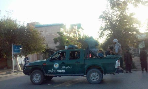 Afghan forces and traffic police in Kunduz city this morning, after they drive out Taliban 2