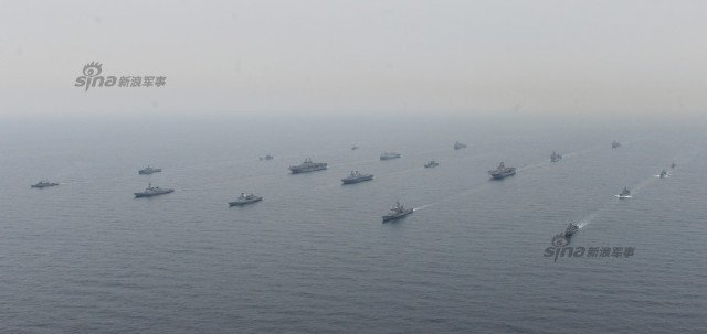 19 ships which took part in  US and South Korean drills 5