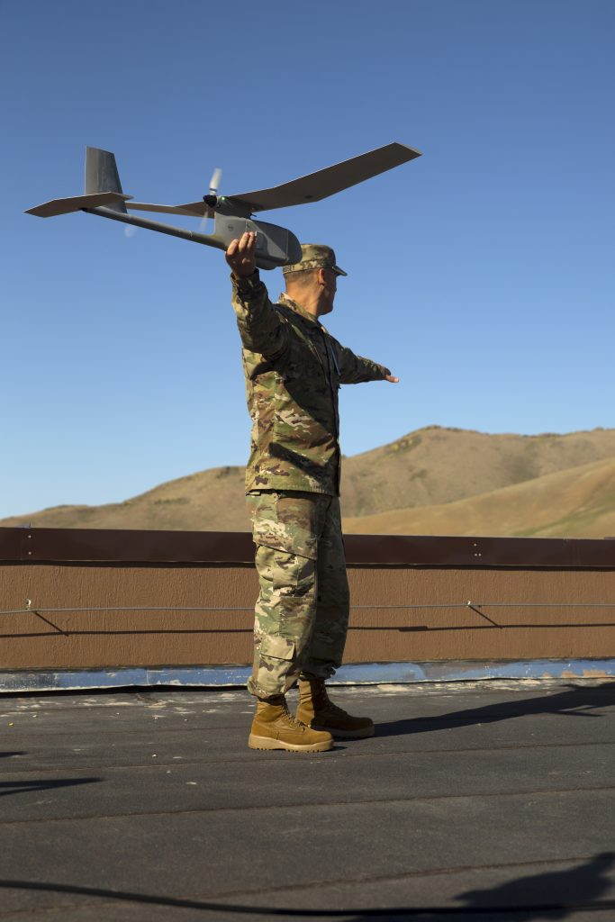 U.S. Soldiers explain, demonstrate unmanned aerial vehicle concepts to Mongolian Armed Forces