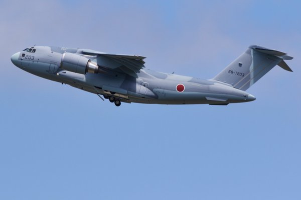 Kawasaki C-2 (68-1203) military transport aircraft (c) flyteam.jp