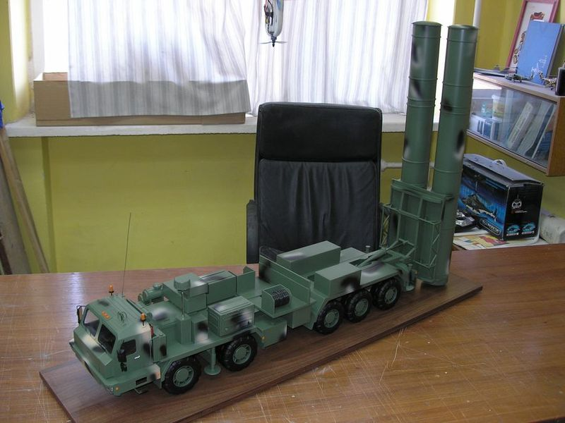 Scale model of new Russian S-500 «Prometheus» missile system copy-models.com