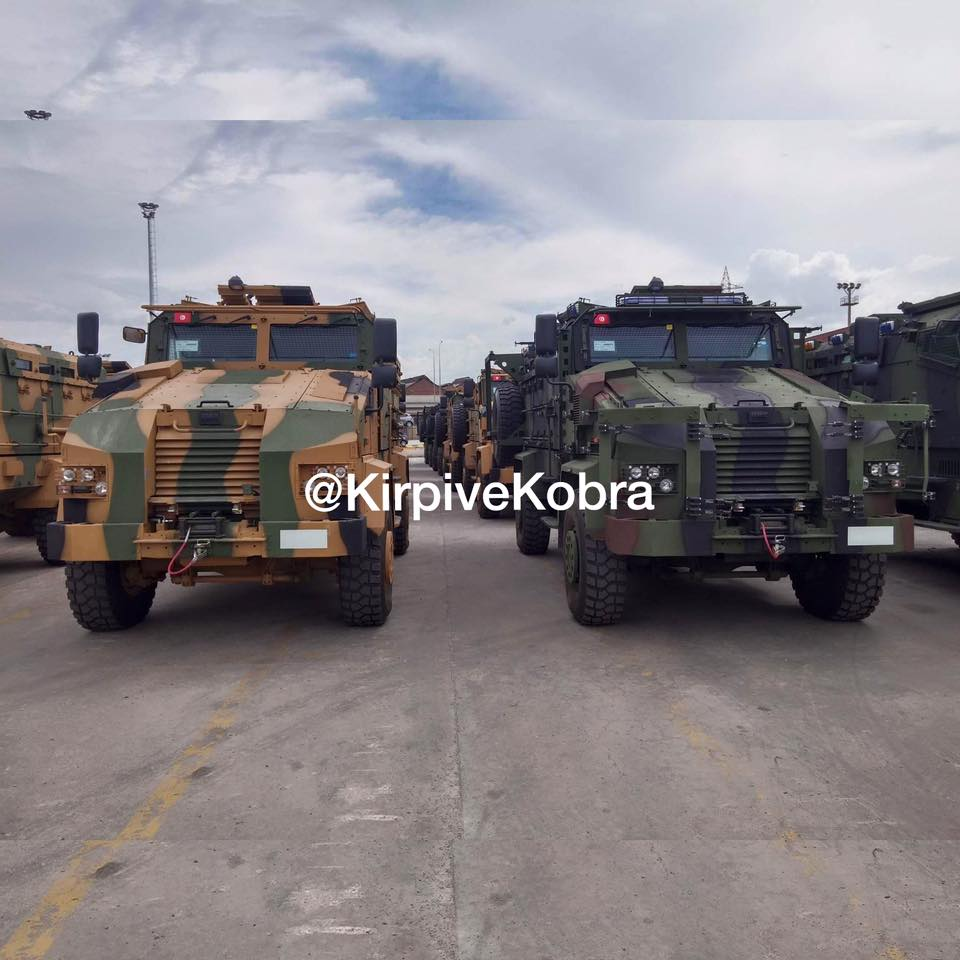 35 Kirpi MRAP 4x4 ready for shippment to Tunisia in Izmir/Turkey (c) Kirpi ve Kobra