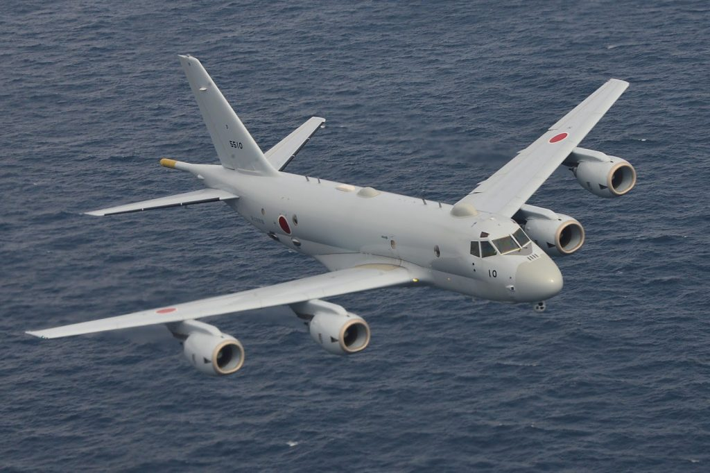 The Kawasaki P-1 maritime patrol aircraft of the Japan Maritime Self Defense Force. JMSDF Photo.