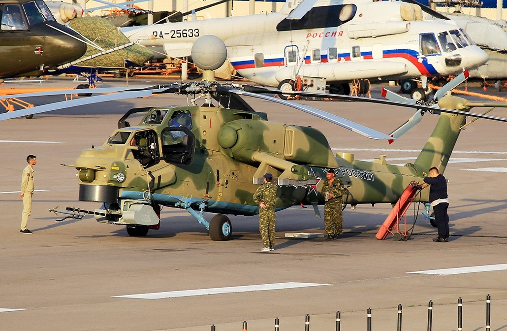 Improved Version Of Russian Mi 28nm Attack Helicopter