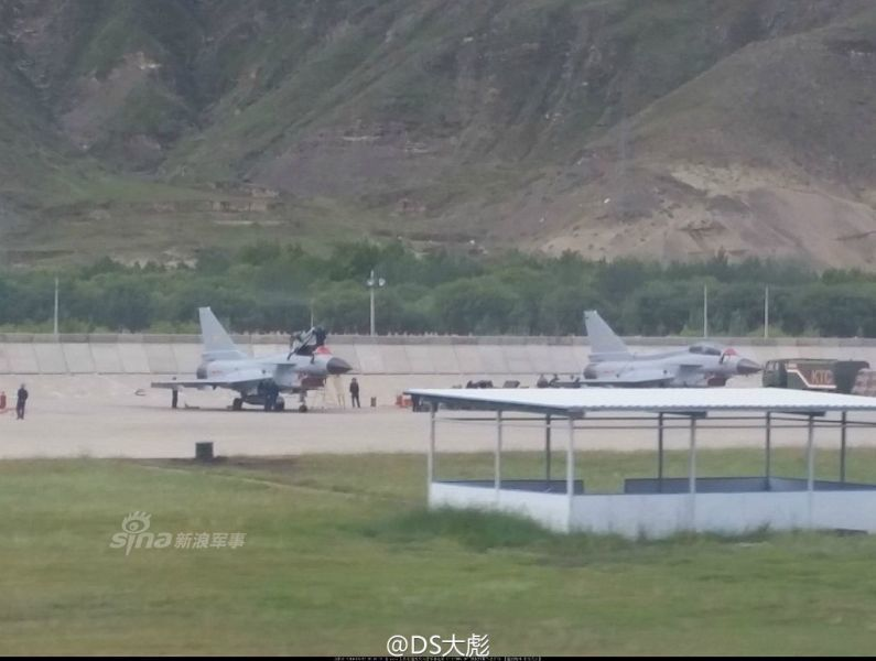 Tibet - China KJ 500 AWACS takes part in exercises along with J-10 fighters 5