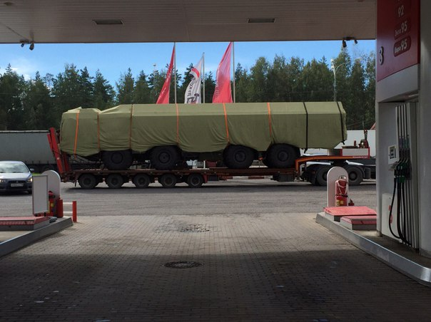 Bastion-P system on the road to St. Petersburg in Novgorod region