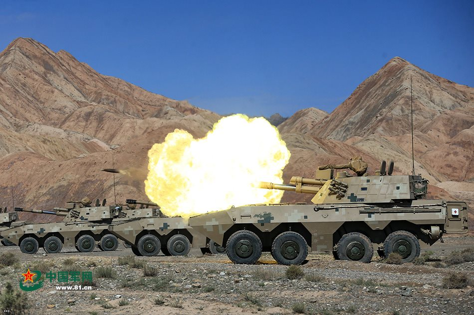 PLL-09 122-mm self-propelled howitzer system. Photo by 81.cn/ Wang Ning