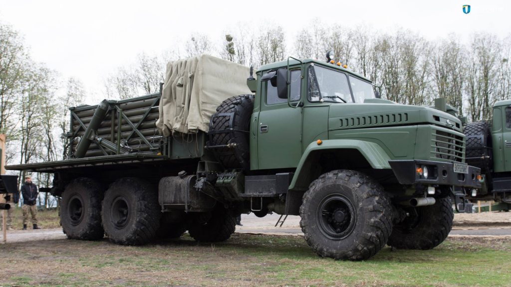 Transport and reload vehicle of Verba MLRS Photo source ukroboronprom.com.ua