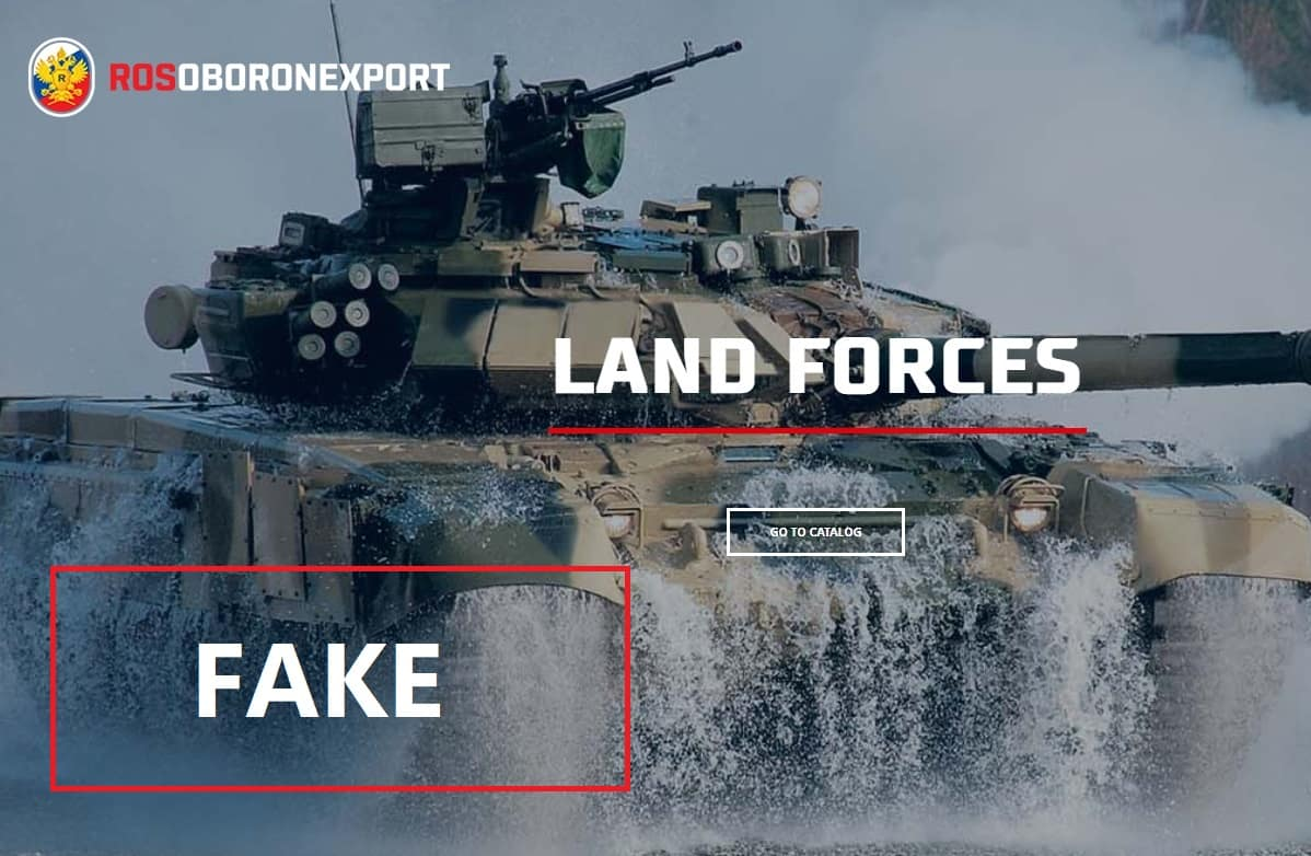 Russian defense export agency fakes photo of new T-90S tank